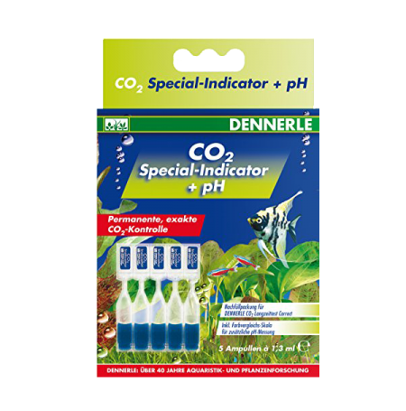 DENNERLE Indicateur spécial de CO2 + pH - 5 x 1,3 ml