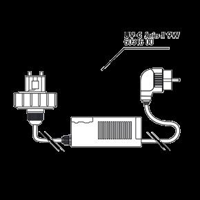 JBL AQ Couvercle + Ballast 9 Watts