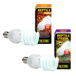 EXO TERRA Lot Reptile UVB150 - 25 Watts + Reptile Vision - 26 Watts