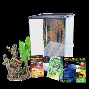 EXO TERRA Crested Gecko Terrarium, pour gecko à crête - Small - 30x30x45cm