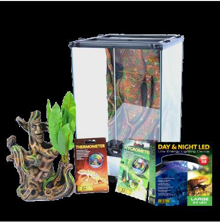 EXO TERRA Crested Gecko Terrarium Kit - 45x45x60 cm - Livraison gratuite