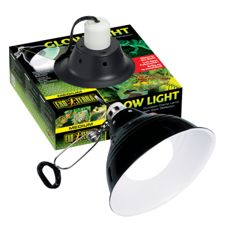 EXO TERRA Glow Light Medium, Support à Pince - Ø21 cm - Jusqu'à 150 Watts