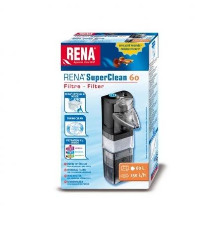RENA Filtre SuperClean 60 Aquarium jusqu'à 60L Débit : 150 l/h