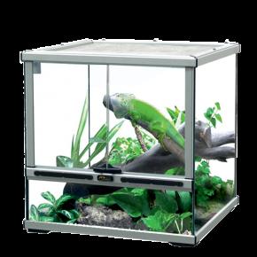AQUATLANTIS Terrarium Smart Line 45 Version basse - 45x45x45 cm - Aluminium - Livraison gratuite
