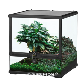 AQUATLANTIS Terrarium Smart Line 45 Version basse - 45x45x45 cm - Noir