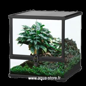 AQUATLANTIS Terrarium Smart Line 45 Version basse - 45x45x45 cm - Noir