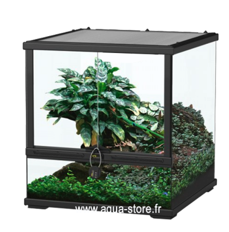 AQUATLANTIS Terrarium Smart Line 45 Version basse - 45x45x45 cm - Noir - Livraison gratuite