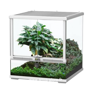 AQUATLANTIS Terrarium Smart Line 45 Version basse - 45x45x45 cm - Blanc