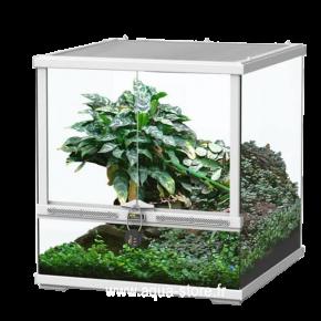AQUATLANTIS Terrarium Smart Line 45 Version basse - 45x45x45 cm - Blanc