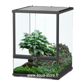 AQUATLANTIS Terrarium Smart Line 45 Version Haute - 45x45x60 cm - Noir