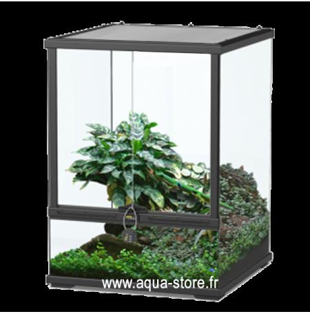 AQUATLANTIS Terrarium Smart Line 45 Version Haute - 45x45x60 cm - Noir - Livraison gratuite