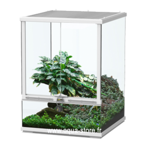 AQUATLANTIS Terrarium Smart Line 45 Version Haute - 45x45x60 cm - Blanc