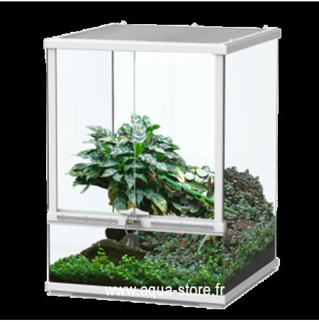 AQUATLANTIS Terrarium Smart Line 45 Version Haute - 45x45x60 cm - Blanc - Livraison gratuite