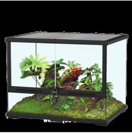 AQUATLANTIS Terrarium Smart Line 60 Version Haute - 60x45x60 cm - Noir - Livraison gratuite