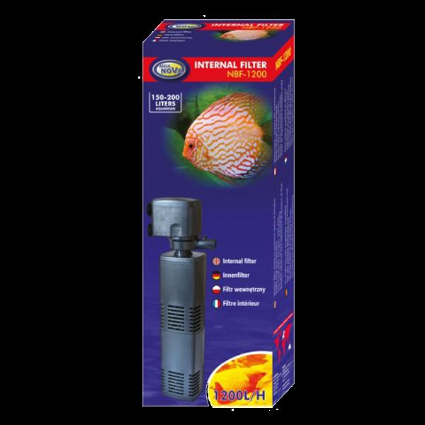Aqua nova nbf 1200 filtre interne pour aquarium jusqu 39 for Aquarium 200 litres