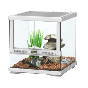 AQUATLANTIS Terrarium Smart Line 30 Version basse - 30x30x30 cm - Blanc