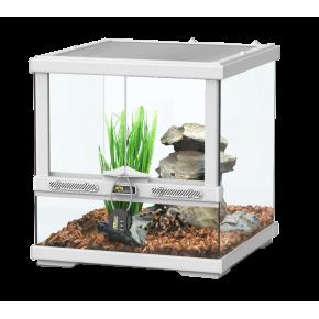 AQUATLANTIS Terrarium Smart Line 30 Version basse - 30x30x30 cm - Blanc