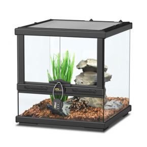 AQUATLANTIS Terrarium Smart Line 30 Version basse - 30x30x30 cm - Noir