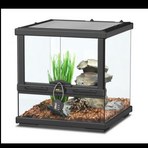 AQUATLANTIS Terrarium Smart Line 30 Version basse - 30x30x30 cm - Noir