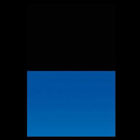 AQUA NOVA Poster Black/Blue S, Noir / Bleu - 60x30 cm