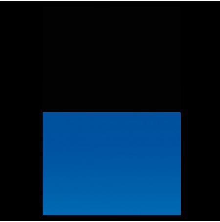 AQUA NOVA Poster Black/Blue L, Noir / Bleu - 100x50 cm