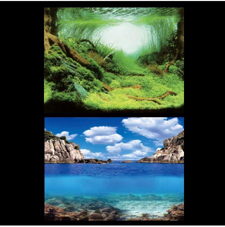 AQUA NOVA Poster Plant/Ocean L, Aquascapping/Ocean - 100x50 cm