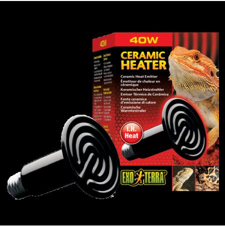 EXO TERRA Ceramic Heater, Ampoule Chauffante en Céramique - 40 Watts