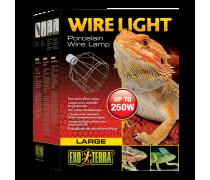 EXO TERRA Wire Light, Support pour lampes de 40 à 250 Watts - Large