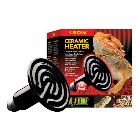 EXO TERRA Ceramic Heater, Ampoule Chauffante en Céramique - 150 Watts