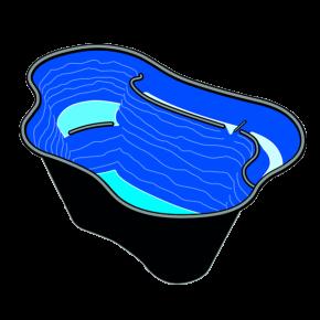 UBBINK Calmus SII, Bassin Préformé - 220 litres