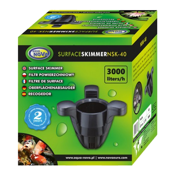 skimmer de surface pour bassin aqua nova nsk 40. Black Bedroom Furniture Sets. Home Design Ideas