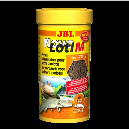 JBL NovoLotl M, Nourriture pour petits Axolotls - Granulés 3mm - 250 ml
