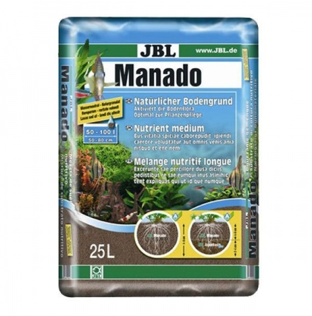 JBL MANADO Substrat de sol naturel 25 Litres