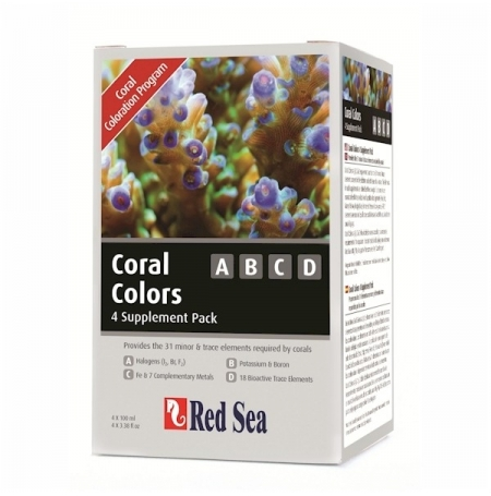 RED SEA Coral Colors ABCD - 4x100ml