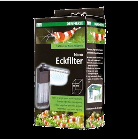 DENNERLE Nano Eckfilter - Filtre pour Aquarium jusqu'à 40 L