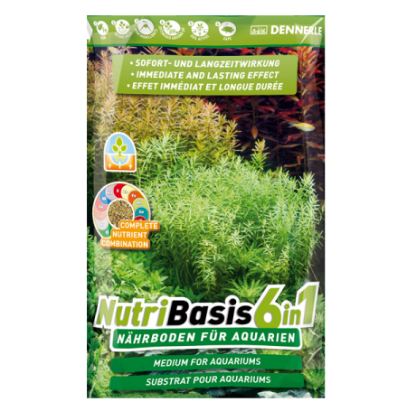Substrat nutritif pour aquarium dennerle nutribasis 6 en 1 for Substrat pour aquarium