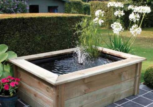 cadre de bois bassin ubbink quadra c3 woodframe. Black Bedroom Furniture Sets. Home Design Ideas
