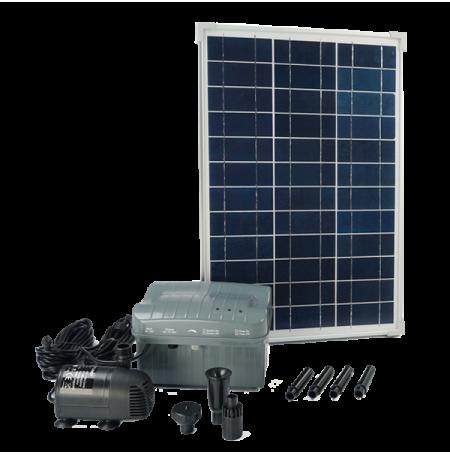 Pompe solaire pour bassin et jet d 39 eau ubbink solarmax 1000 - Pompe de bassin solaire ...