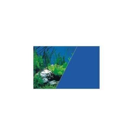 ZOLUX Poster de fond Roche / Bleu - H60 x L120 cm