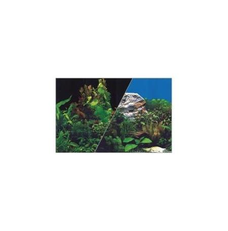 ZOLUX Poster de fond Plante / Noir - H30 x L40 cm