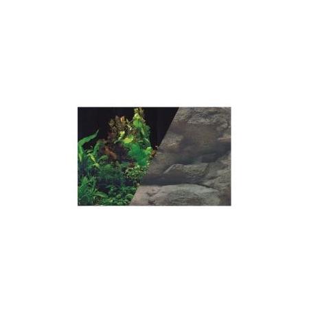ZOLUX Poster de fond Rocher / Plantes - H60 x L120 cm