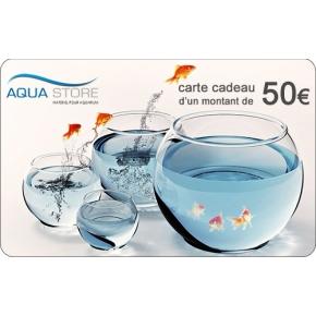 Offrez une carte cadeau Aqua Store d'un montant de 50€