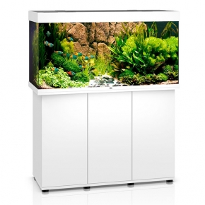 Aquarium Juwel Rio 350 LED + Meuble - Blanc