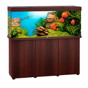 Aquarium Juwel Rio 450 LED avec Meuble Brun