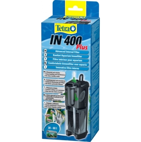 TETRA IN 400 Plus Filtre aquarium 30 à 60L Débit : 400 l/h