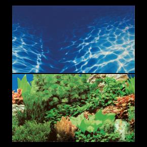 HOBBY Poster de fond Plantes 8 / Marin Blue - 100 x 50 cm
