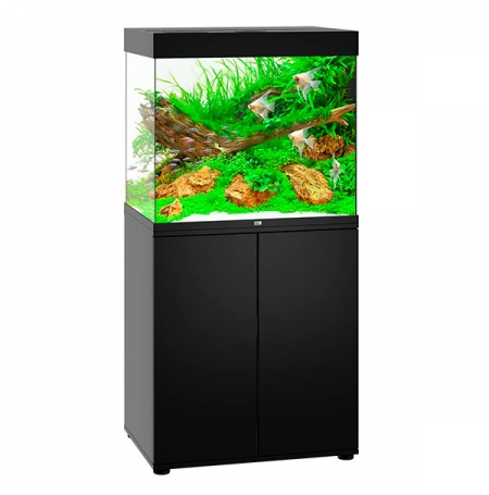 aquarium juwel lido 200 led avec meuble noir. Black Bedroom Furniture Sets. Home Design Ideas