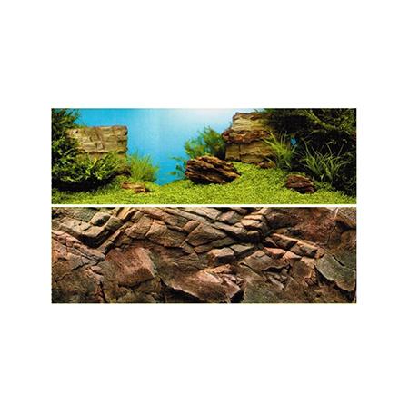 JUWEL Poster de Fond Marins/Roche Taille L - 100x50 cm