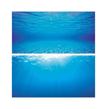 JUWEL Poster de Fond Eau Bleu Clair Taille S - 60x30 cm