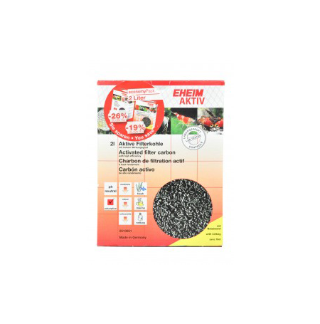 EHEIM Aktiv Charbon Actif + Filet - 2 Litres